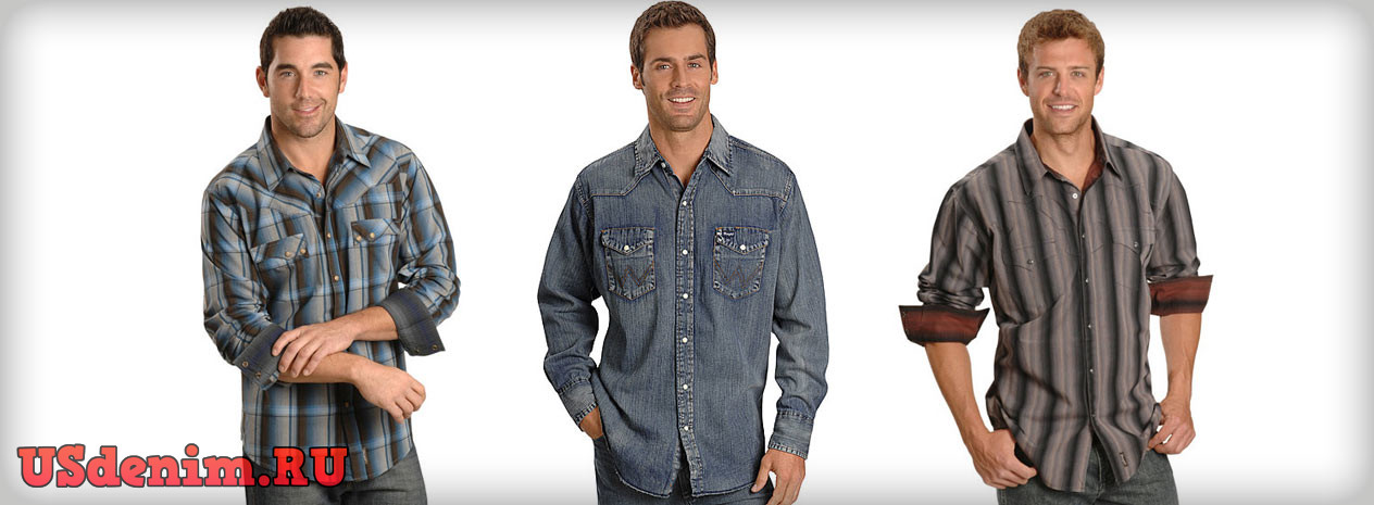 8e598a01eec Джинсовые рубашки Wrangler