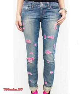 Создаем рваные джинсы