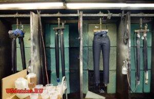 Процессы обработки джинсовой ткани