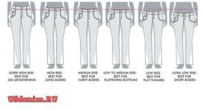 Посадка женских джинсов