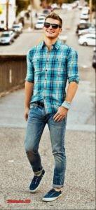 Молодежные джинсы для парней