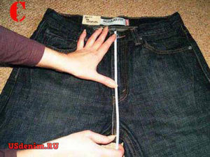 Данный размер джинс показывает высоту посадки